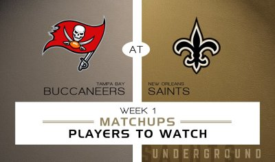 New Orleans Saints vs. Tampa Bay Buccaneers: Matchups & Players to Watch