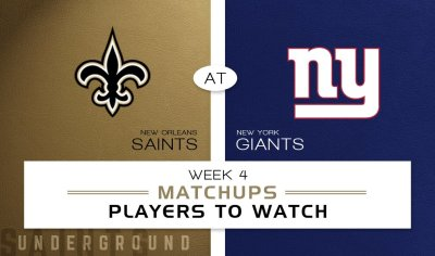 New Orleans Saints vs. New York Giants: Matchups & players to watch