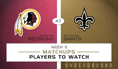 New Orleans Saints vs. Washington Redskins: Matchups & Players to Watch