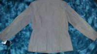 Q.U.E. Ladies Size Large Rough Suede Leather Jacket Button-up