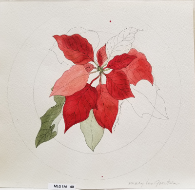 Red Poinsettia Plate Prototype