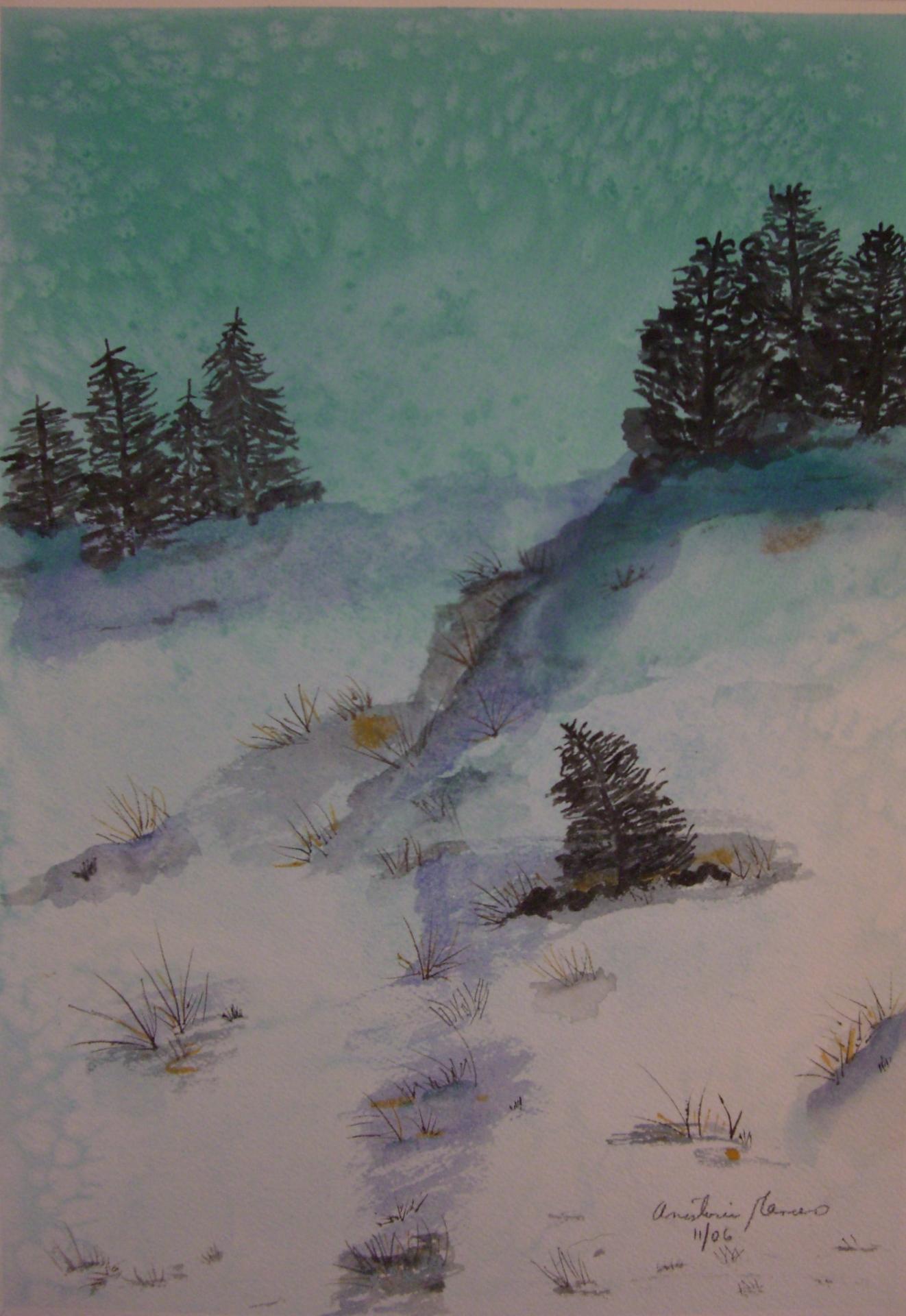 Christmas Ski Slope
