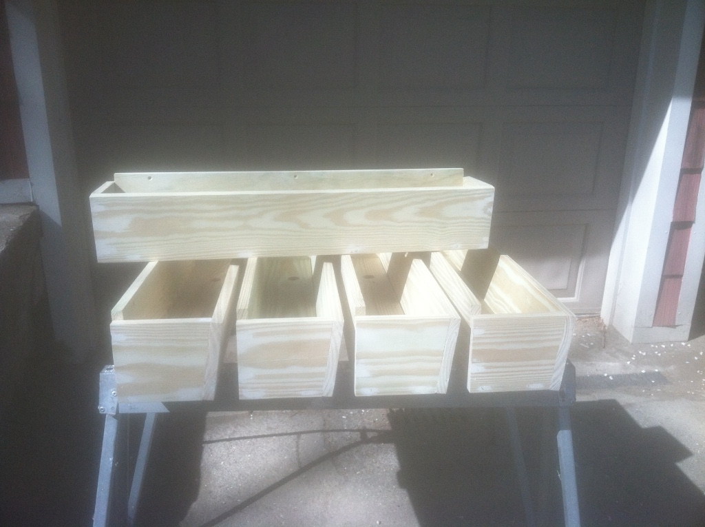Custom Deck Planter Boxes
