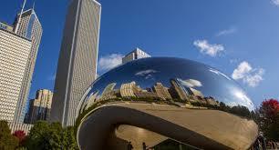 Cloud Gate in Millennium Park in Chicago