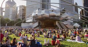 Pritzker Pavilion in Millennium Park in Chicago