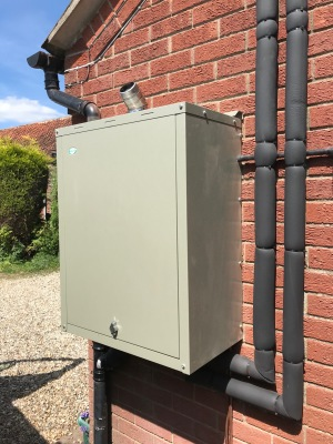 Small External Oil Boiler Installation
