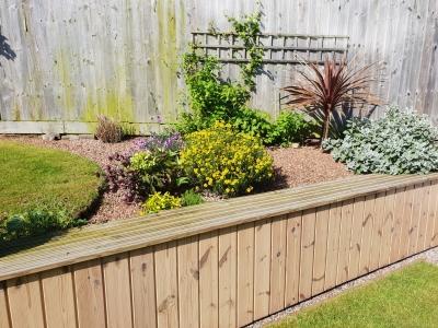 Garden wall cladding installation case study