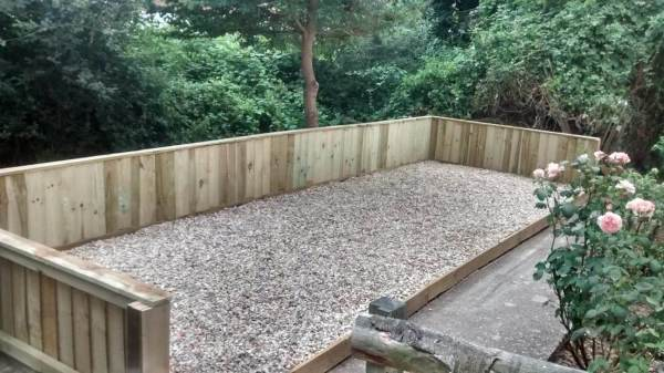 This project involved the complete transformation of an overgrown garden area.