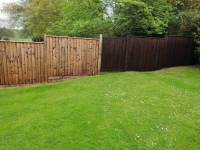 Partially completed Fence Painting project