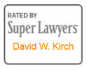 An icon from Super Lawyers, Rated by Super Lawyers, David W. Kirch.
