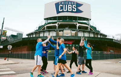 work outs at Gallagher Way Wrigley Field