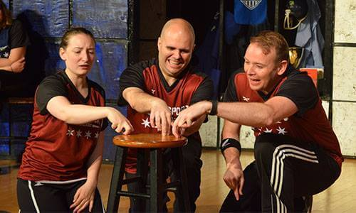 actors in a play at chicago's comedy sportz theatre