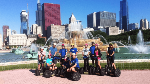 people on segway tour in chicago