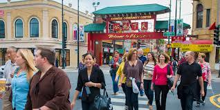 people on a food planet tour in china town chicago
