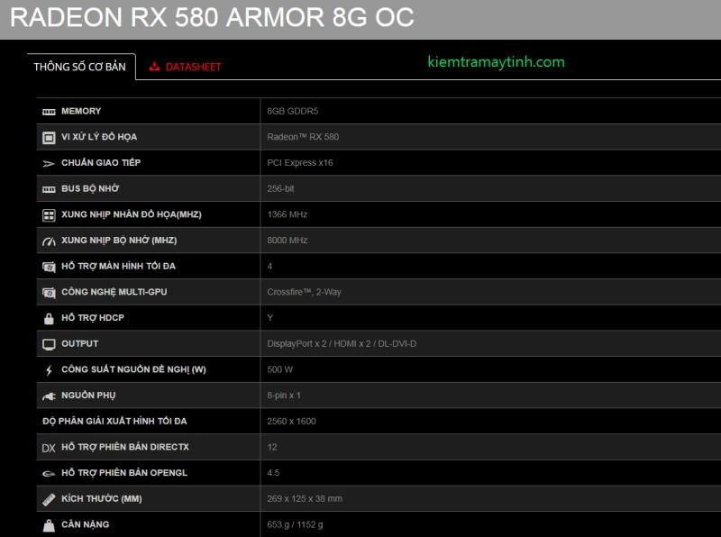 Hướng dẫn cập nhật BIOS Radeon RX 580 Armor 8G OC