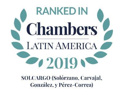 Chambers & Partners reconoce a SOLCARGO en su edición de 2019 como una de las firmas líderes.