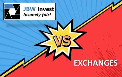 JBW Invest destaca-se pelo baixo custo e até 90% menos taxas que exchanges convencionais