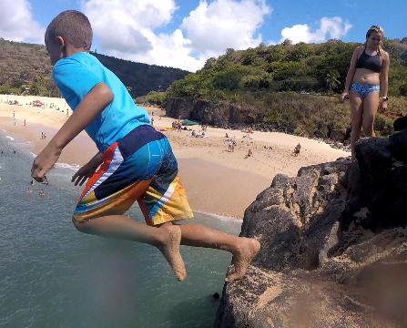 Oahu - Beach Fun, Waikiki Surfing, Canoeing, and Waimea Bay Rock Jumping