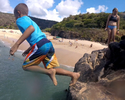 Oahu - Beach Fun, Waikiki Surfing, Canoeing, and Waimea Bay Rock Jumping