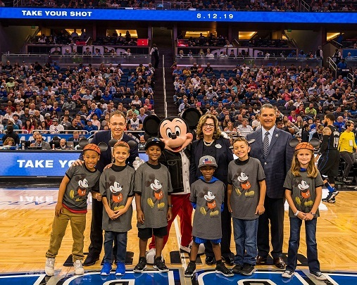 Exclusive Disney unveiling of Orlando Magic Jersey