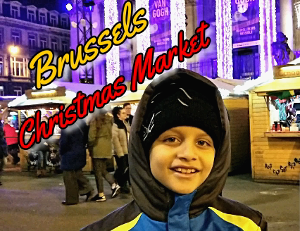 Brussels at Christmas with Holiday Market