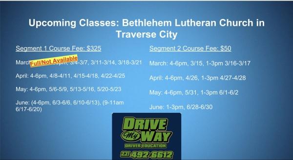 segment 2 drivers ed classes