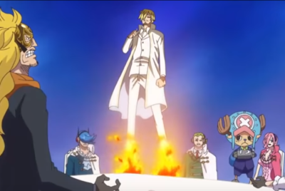 Sanji Uses Haki to save Vinesmokes  VS Daifuku
