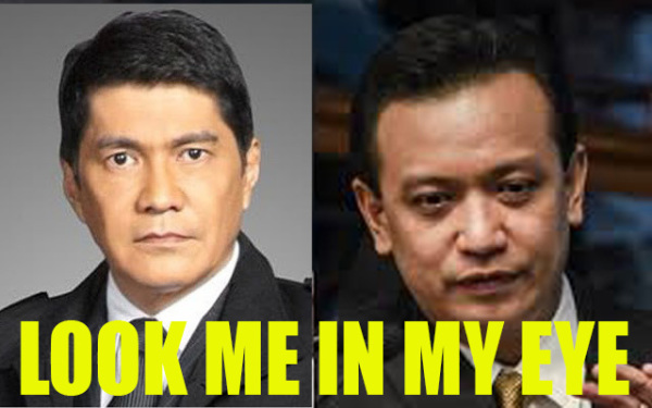 Look me in my eye! Love and Support of netizens! Tulfo VS Trillanes
