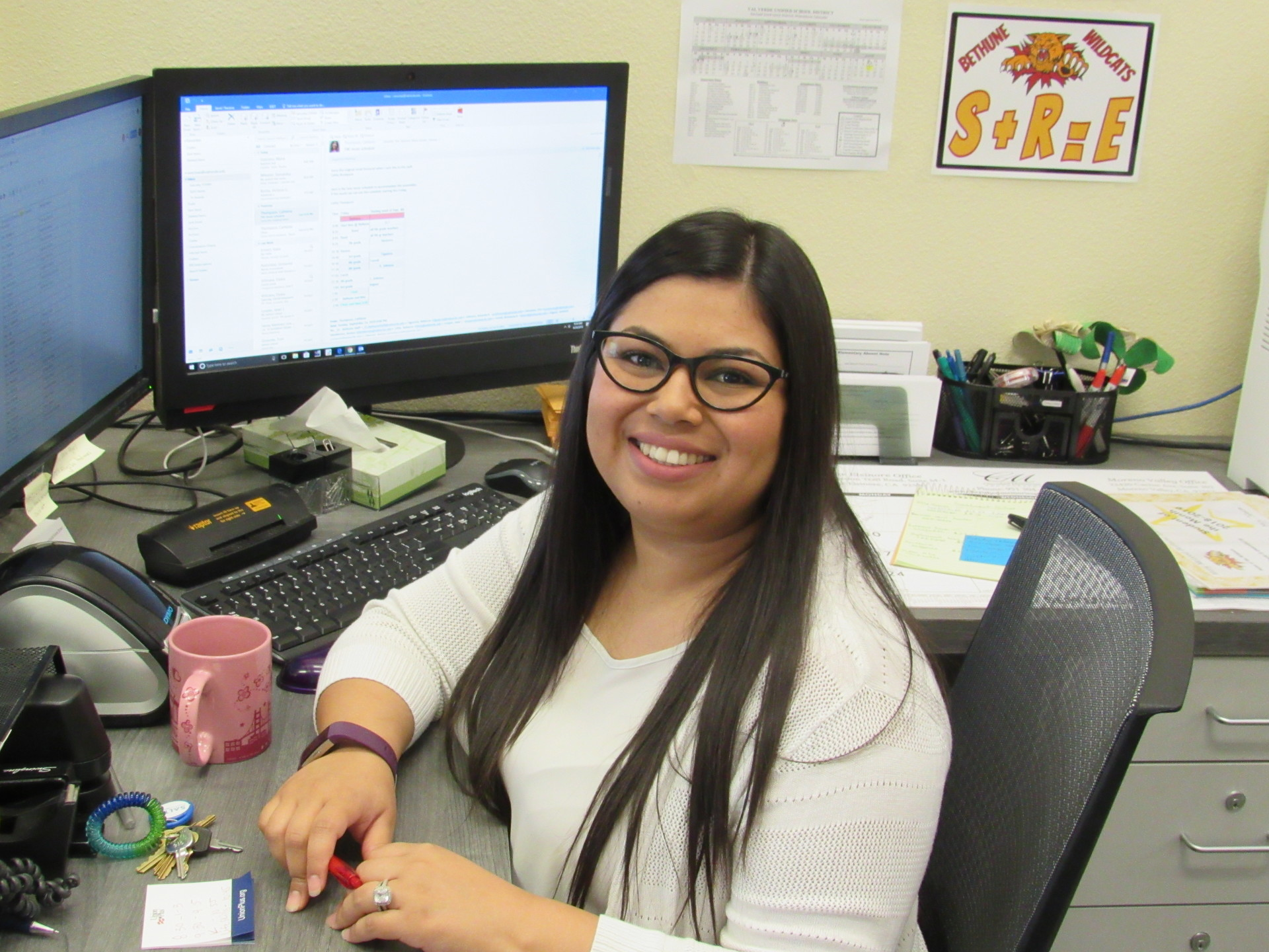 I pledge to provide parents and students with outstanding service. ~ Vanessa Encinas