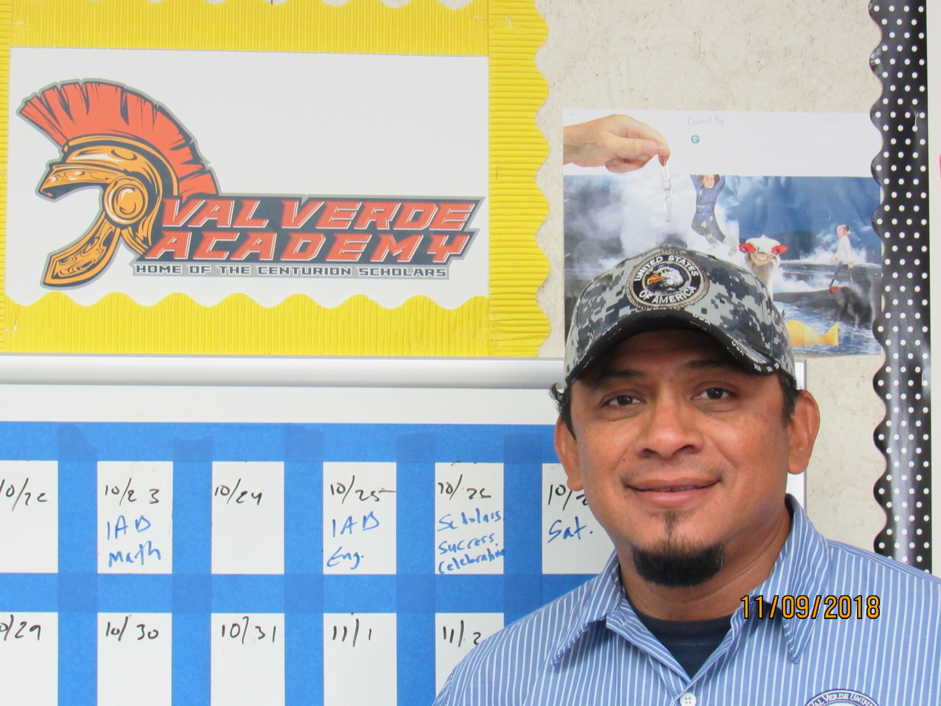 I will work to create an atmosphere at VVA that is clean and inviting for our students, staff, and all of our campus visitors. ~ Carlos Morales