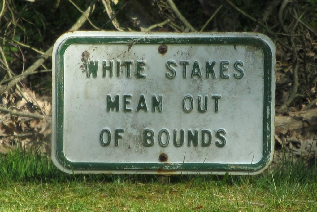 Vintage Golfing Sign