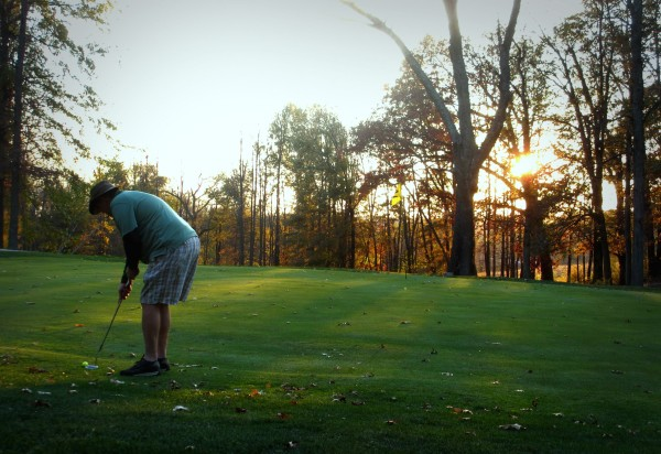 Twilight Golf on a mild Winter's day