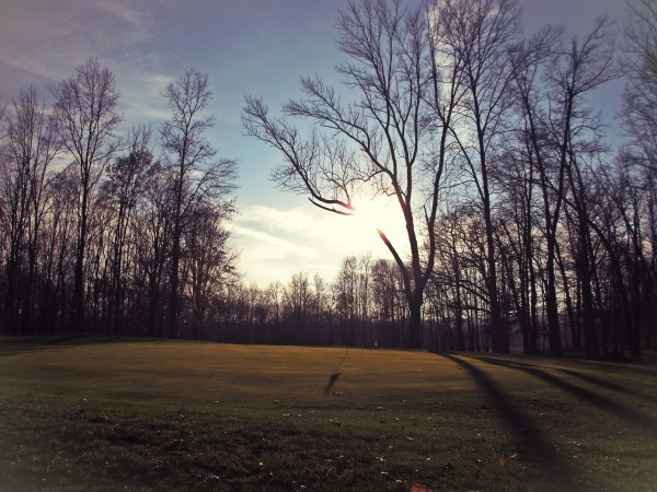 Winter Golf in the late afternoon...