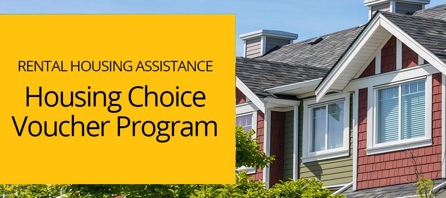 """rental housing assistance: housing choice voucher program"" red and green house"