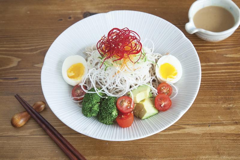 (NO Egg for Vegan) Health Conscious Soba Salad S:18 L:20
