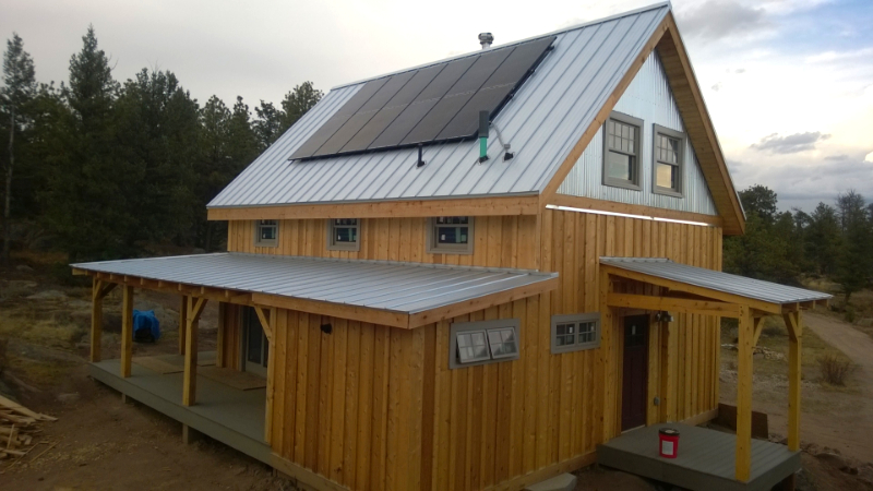 Roof Mount Solar System for Sustainable Off-grid Living