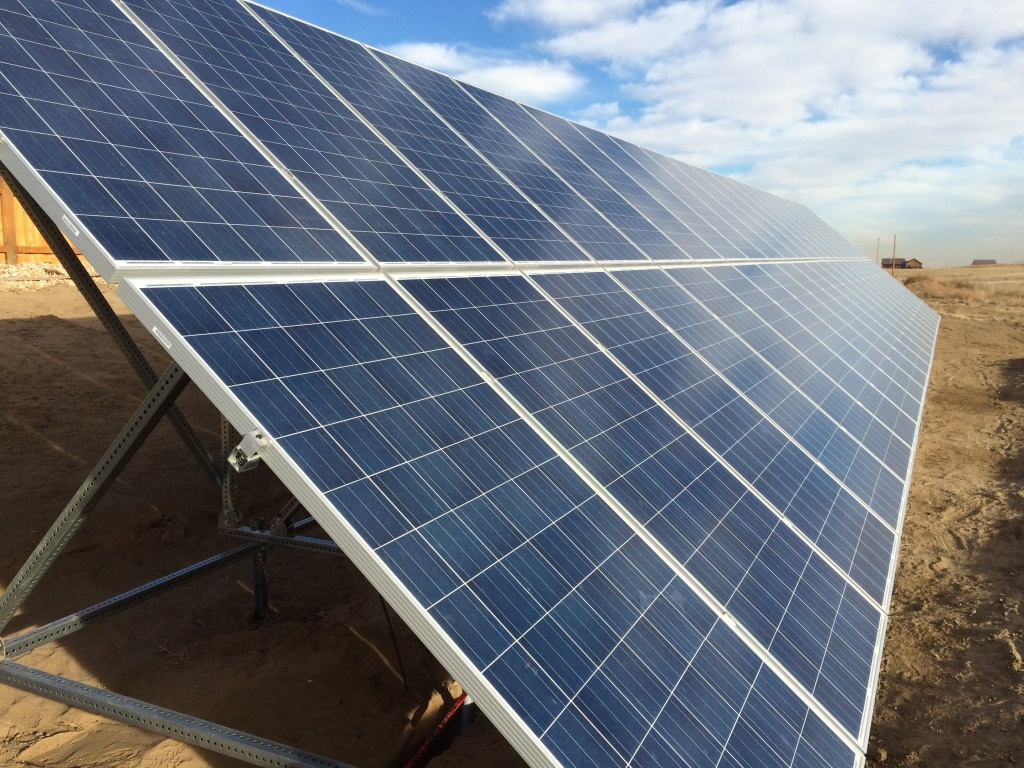 Ground Mount Solar Array in Northern Colorado