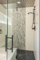 Fiorito Interior Design, interior design, remodel, master bathroom, shower, slate tile