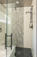 Fiorito Interior Design, interior design, remodel, master bathroom, shower, slate tile