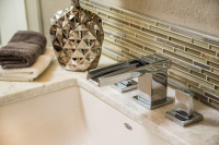 Fiorito Interior Design, interior design, remodel, bathroom, vanity, sink, faucet, modern