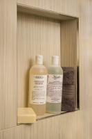 Fiorito Interior Design, interior design, remodel, bathroom, niche, shower, porcelain tile