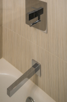 Fiorito Interior Design, interior design, remodel, bathroom, shower head, hand held shower, head, tub, shower, modern