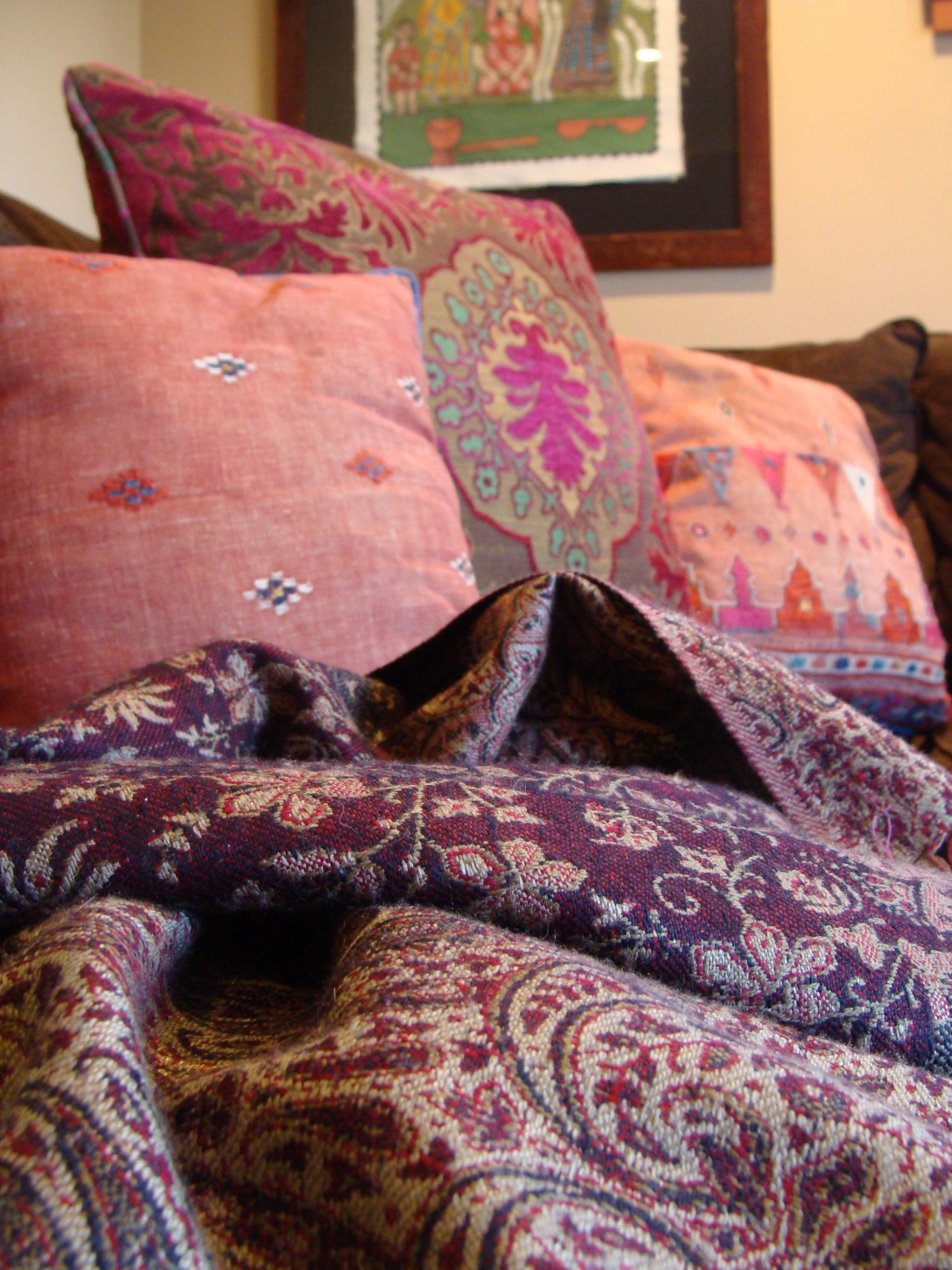 Fiorito Interior Design, interior design, remodel, television room, sectional, pillows, throw, ethnic, eclectic