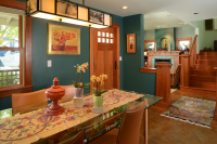 Fiorito Interior Design, interior design, remodel, dining room, linear chandelier, ethnic, eclectic, Craftsman