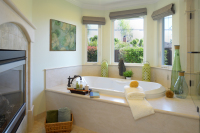 Fiorito Interior Design, interior design, remodel, master bathroom, soaking tub, fireplace, traditional