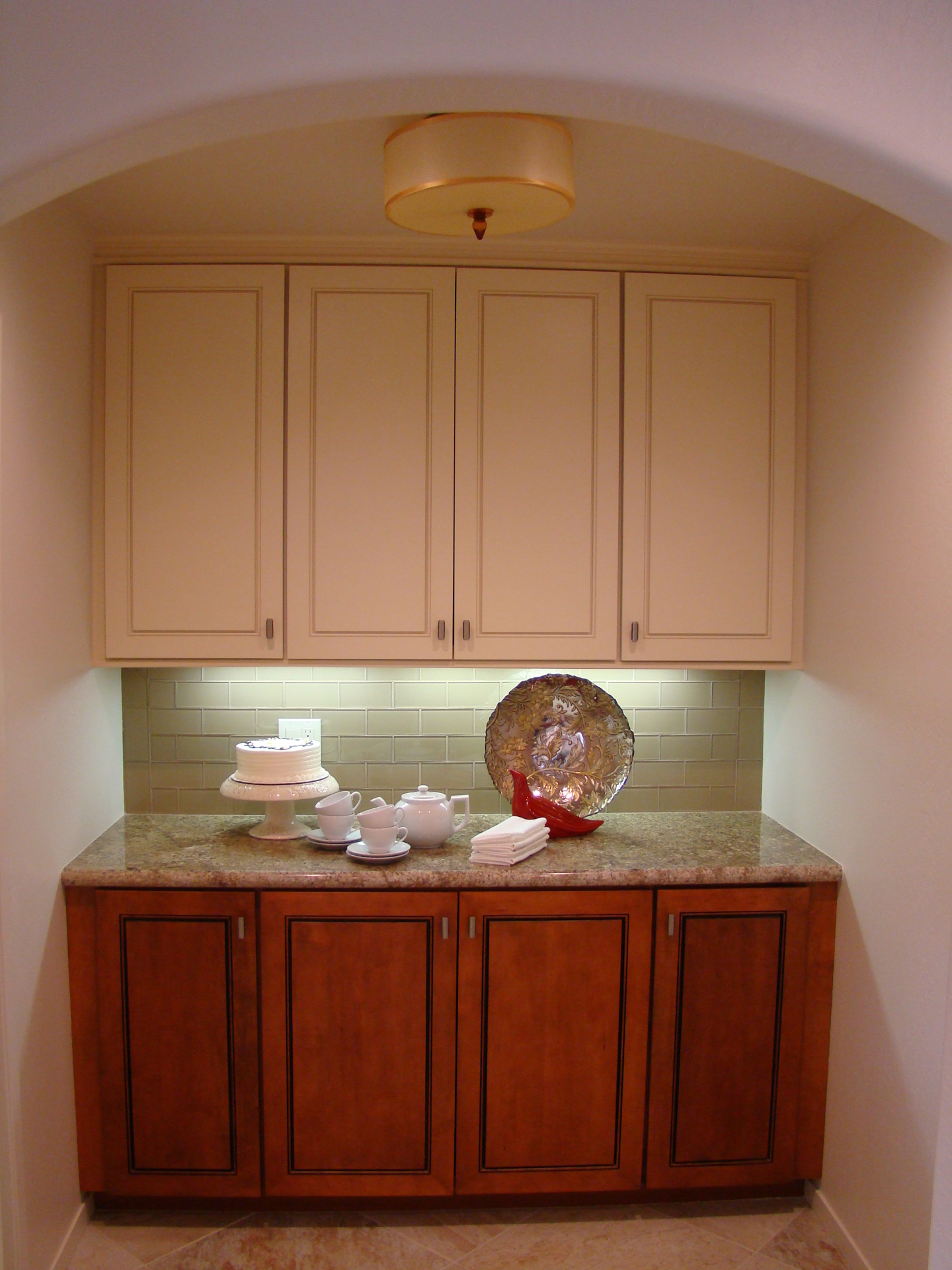 Fiorito Interior Design, interior design, remodel, kitchen, light and dark cabinetry, granite counter, pantry