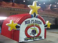 Inflatable helmet tunnel for football team  or cheer entrance to the field