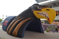 Inflatable falcon/hawk tunnel for football team entrance to the field