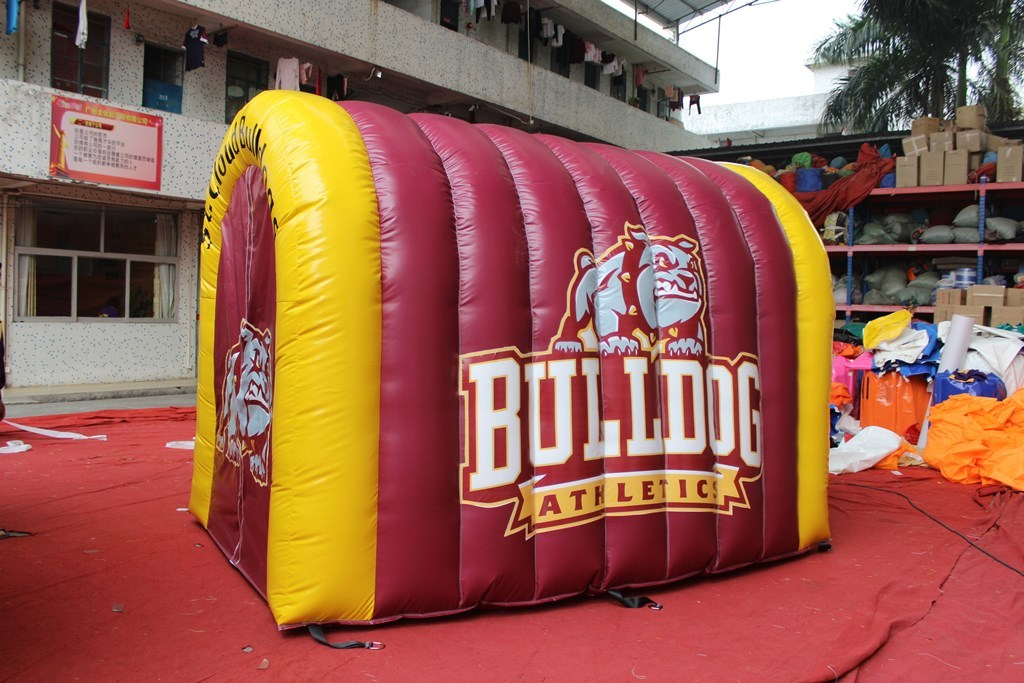 Inflatable tunnel for football team entrance to the field