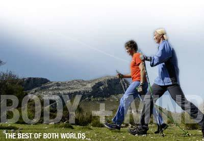 Nordic walking, fitness, hiking and trekking poles